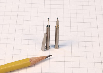 Small slot Wire EDMed into Core Pin for Plastic Injection Mold