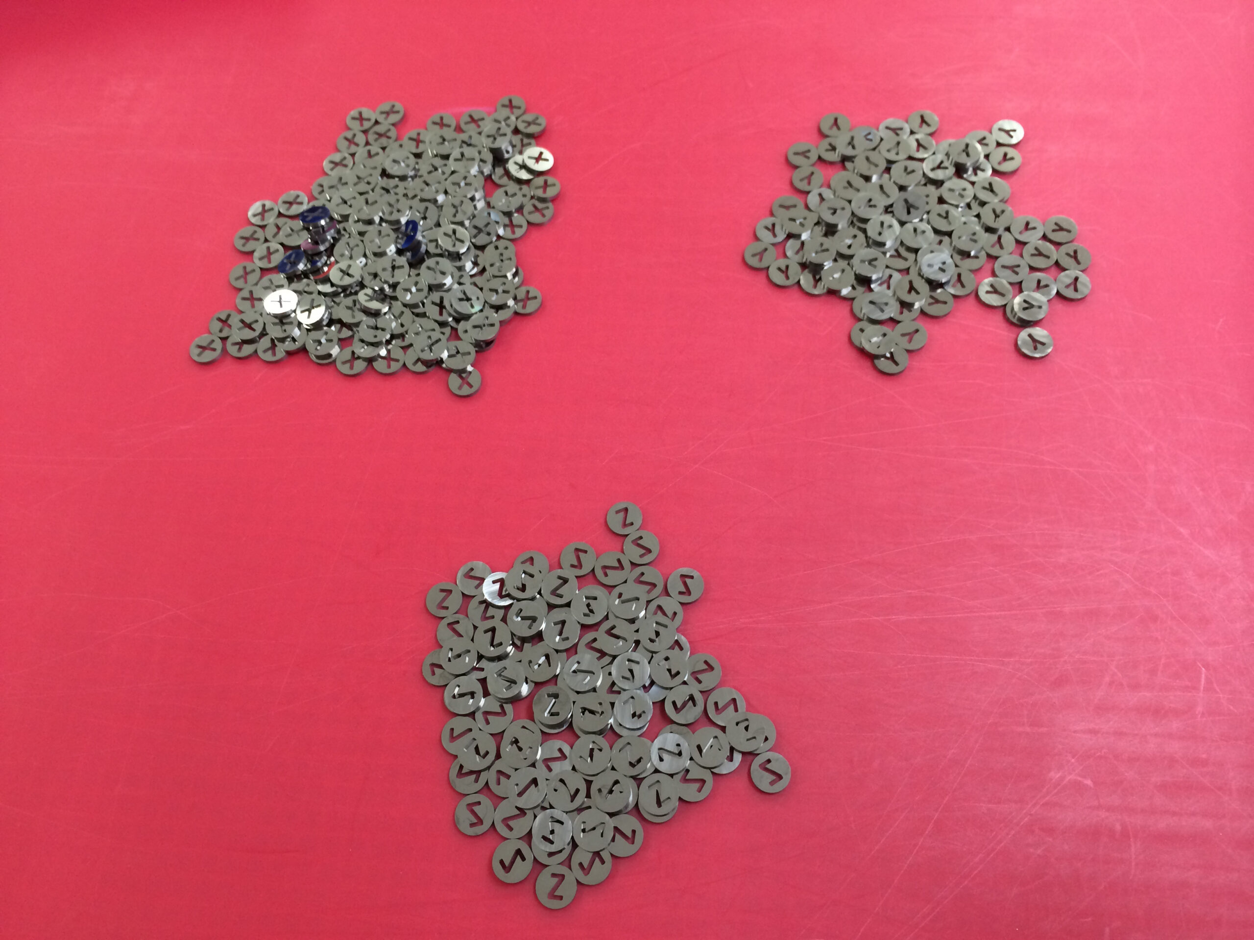 Wire EDM Tungsten Carbide letters